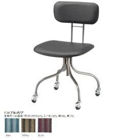 キャスター付き椅子 学習チェア デスクチェア レトロ 椅子 オフィスチェア おしゃれ 完成品 パソコンチェア 椅子 チェアー リビング PCチェア 日本製 国産 北欧 ミッドセンチュリー ストライプ 柄 青 茶 モダン