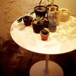 ダイニングテーブル 一本脚 1本脚 カフェテーブル 丸型テーブル 丸テーブル 円形 2人用 二人 二人用 木製 ラウンドテーブル 丸型 カフェ テーブル ホワイト 白 机 おしゃれ 日本製 西海岸風