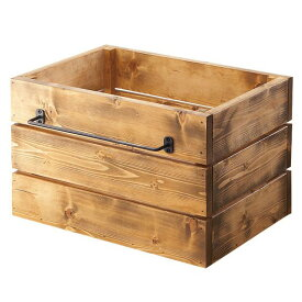 収納ボックス 木箱 収納ケース ウッドボックス 引き出し 木製 アンティーク ケース レトロ ストレージボックス Lサイズ 幅45cm 高さ28cm 木目 キッチン収納 木 箱 カントリー 収納BOX おしゃれ SWITCH スウィッチ 約幅50cm 約奥行40cm 約高さ30cm