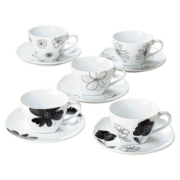 ティーカップ ソーサー コーヒーカップ コップ 紅茶 食器 新生活 コーヒー おしゃれ かわいい 受け皿 来客 カップ&ソーサー マグ トレー プレート 28438 R-8027 コーヒー C/S 5つセット ギフト プレゼント 贈り物 一人暮らし 二人暮らし 新婚 引っ越し祝い 新築祝い