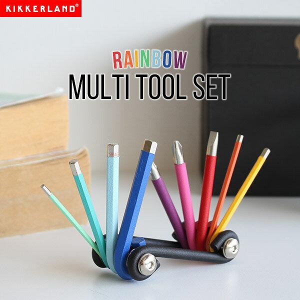 工具 マルチツール ドライバー 六角レンチ DIY おしゃれ Rainbow Multi Tool Set プラス マイナス トルクス KIKKERLAND キッカーランド