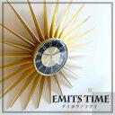 壁掛け時計 北欧 掛け時計 存在感抜群 デザイン 大型時計 インテリア かわいい 掛時計 大きい ミッドセンチュリー 壁掛け 時計 ウォールクロック 太陽 サン...