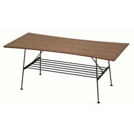 100 レトロ ローテーブル ブラウン カフェ テーブル ソファー 北欧 アンティーク ソファー 一人暮らし 棚付き センターテーブル 木製 ウォールナット アンセム リビング ナチュラル 100cm幅 ミッドセンチュリー モダン 机 おしゃれ ラック付き 座卓