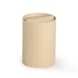 ゴミ箱 ふた付き ごみ箱 木目 スイング 北欧 952HA 回転蓋(L) 白木 ホテル おしゃれ 和室 和風 SAITO WOOD サイトーウッド 木製 一人暮らし インテリア リビング