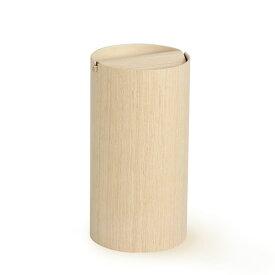 ごみ箱 ふた付き 木目 ゴミ箱 スイング ダストボックス 回転蓋 蓋付 かわいい おしゃれ 一人暮らし 和室 ミッドセンチュリー 北欧テイスト インテリア スタイリッシュ モダン ダストBOX 屑箱 ごみばこ 木製 縦型 970HA 白木 ホテル SAITO WOOD サイトーウッド オフィス
