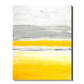 ポスター パネル アートパネル キャンバス インテリア 玄関 北欧 アートポスター ファブリックパネル 壁掛け アート インテリア雑貨 店舗 壁 ペイント モダン 油絵風 抽象画 おしゃれ カフェ カラフル IAP51598 T30 Gallery Grey and Yellow Abstract Art Painting