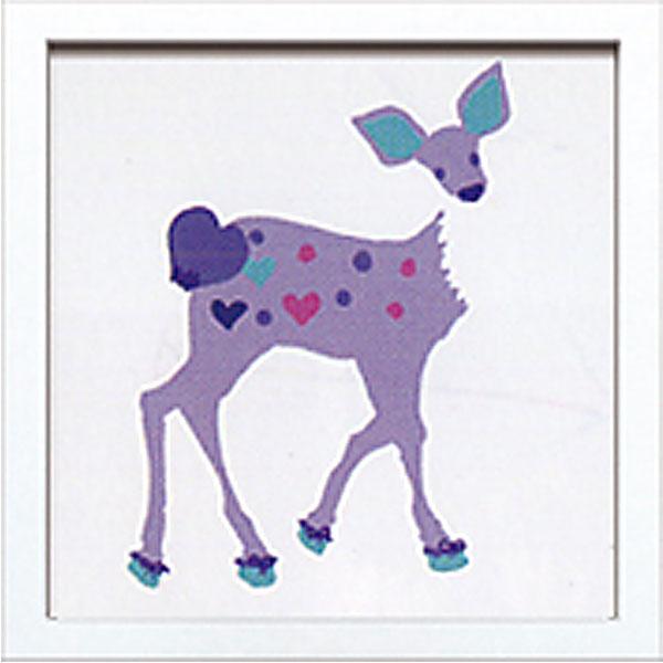 絵画 アートパネル Kayo Horaguchi ホラグチカヨ イラスト 絵 動物 シカ ハート カラフル かわいい 壁掛け インテリア 卓上 壁面装飾 カフェ リビング ダイニング 玄関