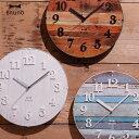 掛け時計 壁掛け 時計 電波時計 電波 壁掛け時計 アンティーク 掛時計 かわいい ウォールクロック アメリカン 白 レトロ 掛け時計 ホワイト ヴィンテージ風...