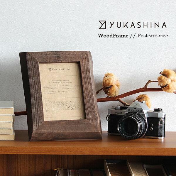 フォトフレーム Wood Frame ポストカード Yukashina ゆかしな 木製 桐 天然木 おしゃれ インテリア 写真立て フレーム