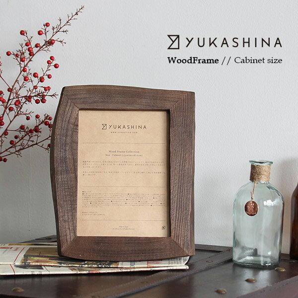 フォトフレーム Wood Frame キャビネット Yukashina ゆかしな 木製 桐 天然木 おしゃれ インテリア 写真立て フレーム