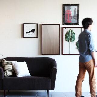 ミラー卓上ミラー鏡白ウォールミラーウォール卓上細枠壁掛けミラーアンティーク洗面台壁掛け姿見木製日本製洗面鏡玄関シンプル木枠フレーム北欧モダンブラウンブラックホワイトインテリア【幅41cm高さ69cm】|壁かけモノトーンおしゃれ美容室