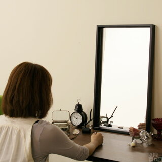 卓上ミラーウォールミラーアンティーク卓上細枠鏡木製メイクアップ壁掛け40cm70cmウッド玄関洗面所シンプル木枠大フレーム掛け鏡立掛け立て掛け壁北欧モダンブラウンブラックホワイトシンプル激安インテリアsm002おしゃれ