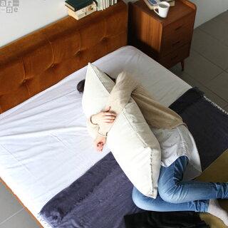 クッションカバーモノトーン長方形クッション無地カバーロングクッション抱き枕ピロークッション大きいロングビッグクッションジャンボクッションふかふかクッション布アイボリーベージュブラウングレーグリーンブラック【43×100cmカバーのみ】