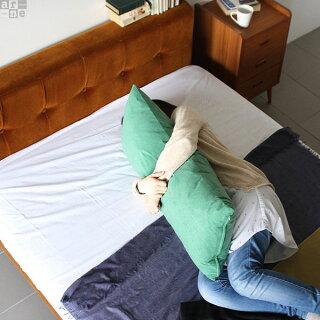 クッションカバークッションロングクッションカバー長方形無地抱き枕ピロークッション大きいロングベージュブルーピンクミントジャンボクッション布グリーンアイボリーオレンジレッドダークブラウンブラック青【43×100cmカバーのみ】