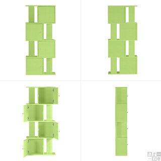 本棚扉付き扉付完成品大容量薄型オシャレスリム棚オープンラック木製飾り棚木おしゃれディスプレイラック扉キャビネット約幅60奥行25高さ140イエローグリーンブルー黄色緑青水色シンプルディスプレイラックブックシェルフ本収納引き戸本箱