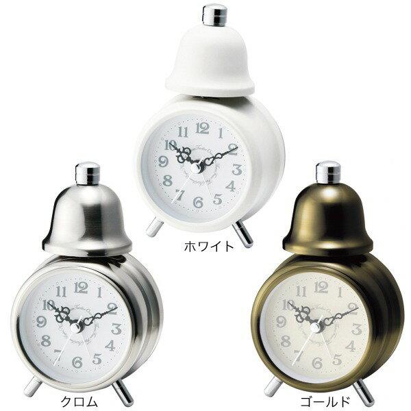 目覚まし時計 置き時計 目ざまし時計 目覚し時計 アラーム おしゃれ アラーム時計 目覚 小 ホワイト 時計 ミニ 置時計 白 インテリア ゴールド クロック デザイン 卓上 クラシカル レトロ アナログ シンプル DEAR ディアー テーブルクロック CL-4982 プレゼント ギフト