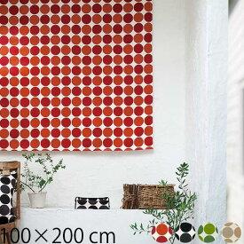 カーテン ドット 100×200 子供部屋 かわいい 既製カーテン 2枚組 北欧 QUARTER REPORT 日本製 Charca チャルカ