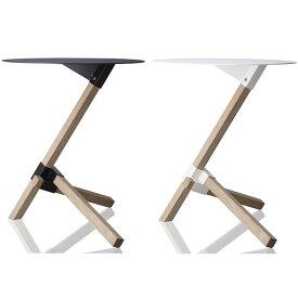 サイドテーブル 小さい カフェ テーブル 丸 スリム サイド スチール ウッド 白 小さいテーブル おしゃれ デザイナーズ ホワイト 白 木 デザイナーズ家具 薄型 家具 ソファサイドテーブル ベッドサイドテーブル カフェテーブル ブラック モダン インテリア ブランド DUENDE