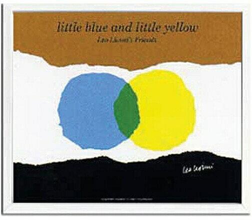 ポスター アートフレーム レオレオニ 北欧 アートパネル アートポスター 絵本 ウォールパネル 壁 飾る インテリア パネル 額絵 壁飾り 額 絵 イラスト ポップ アート レオ レオニ レオ・レオニ リビング おしゃれ Leo Lionni Little Blue and Yellow