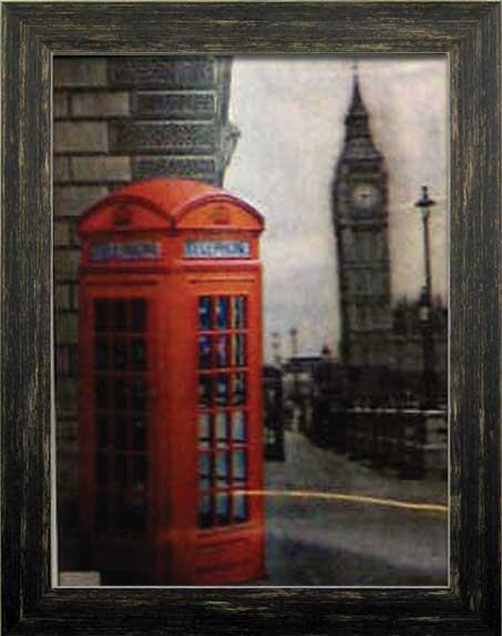 アートポスター アートフレーム ポスター 3D 3Dポスター 公衆電話 電話ボックス アートパネル インテリア 3Dアート デザイン ウォールデコ 壁掛け 壁面装飾 壁面 モダン おしゃれ 雑貨 木製 フレーム カフェ お店 ギフト プレゼント ITD70109 Jubilee Box 808