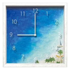 デザイナーズクロック 壁掛け 掛け時計 時計 アート インテリア クロック デザイナーズ ウォールクロック 海 掛時計 デザイン時計 おしゃれ かわいい 静か イラスト 絵 デザイン 北欧 雑貨 モダン ギフト Artist Clock シマザキ ミユキ ブルー