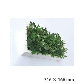 観葉植物 壁掛け フェイクグリーン 北欧 グリーン おしゃれ ウォールパネル グリーンパネル アートフレーム 壁面 パネル 芝生 フェイク 人工芝 インテリア ホワイト 雑貨 リビング 寝室 プレゼント ギフト ISH51644 Shibafu 3 グリーンミックス 150x300 WH