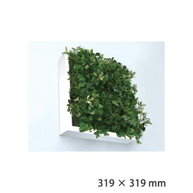 観葉植物 壁掛け フェイクグリーン 北欧 グリーン おしゃれ ウォールパネル グリーンパネル アートフレーム 壁面 パネル 芝生 フェイク 人工芝 インテリア ホワイト 雑貨 リビング 寝室 プレゼント ギフト ISH51648 Shibafu 3 グリーンミックス 300 WH