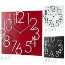 壁掛け時計 デザイン時計 立体 壁掛け 掛け時計 掛時計 壁時計 時計 おしゃれ インテリアクロック 壁掛 時計 ウォールクロック ウッド 文字盤 赤 レッド ...