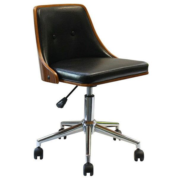 キャスター付き椅子 デスクチェア おしゃれ 椅子 オフィスチェア 肘なし レザー キャスター 木製 デスク パソコン チェア パソコンチェア 木 イス いす 事務用椅子 昇降 おすすめ 背もたれ ミッドセンチュリー キャスター付き アンティーク ウォールナット