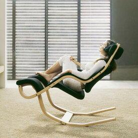 ロッキングチェア ロッキングチェアー チェア デザイナーズチェア ロッキング 木製 デザイナーズ 一人用 揺れ椅子 ハイバック 1人掛け チェアー 揺り椅子 揺れイス 木製椅子 デザイン Gravity グラヴィティ ブラック 黒 Varier ヴァリエール 布張り ファブリック 木