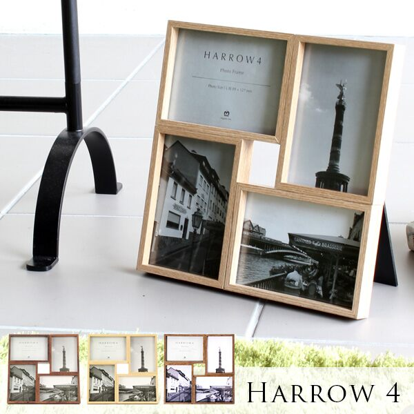 写真立て L判 ピクチャーフレーム フォトフレーム 写真 複数 壁掛け 4枚 写真立て 木製 木製フォトフレーム ウッド 額 複数 写真たて フレーム ディスプレイ フォトスタンド 木枠 4枠 北欧 壁掛けフォトフレーム インテリア 結婚祝い 記念 ギフト プレゼント