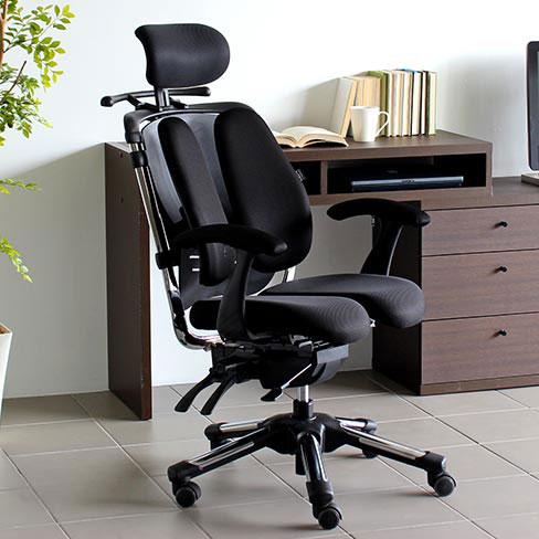 パソコンチェア 疲れにくい オフィスチェア ハイバック 肘掛け椅子 おすすめ 腰痛対策 骨盤矯正 デスクチェア 腰痛 キャスター 椅子 チェア リクライニング 快適 高さ 角度 調節 OAチェア 肘付き HARA Chair ハラチェア Super Nietzsche II スーパーニーチェ2