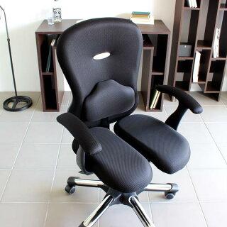 パソコンチェア疲れにくいオフィスチェアロッキングハイバックおすすめ肘掛け椅子腰痛対策チェア腰痛椅子骨盤矯正キャスターデスクチェアリクライニング快適高さ角度調節OAチェア肘付きHARAChairハラチェアMiracleIIミラクル2