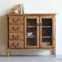 キャビネット アンティーク 木製 食器棚 ガラスキャビネット 完成品 北欧 おしゃれ リビング ガラス 飾り棚 ディスプ…