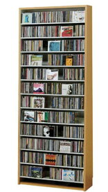 CDラック スリム 大容量 おしゃれ cd ラック DVD 収納 棚 薄型 DVDラック CDストッカー モダン 木製 楽天 CD最大924枚収納可能 DVD最大400枚収納可能 ナチュラル