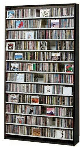 CDラック スリム 大容量 おしゃれ CD DVD 収納 ラック dvd収納ラック ディスプレー 棚 cd収納ラック cd収納棚 cdボックス cdスタンド 薄型 DVDラック 壁面収納 収納力 ディスプレイラック 木製 楽天 送料無料 CD最大1284枚収納可能 DVD 最大560枚収納可能 ダークブラウン
