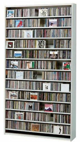 CDラック スリム 大容量 おしゃれ CD DVD 収納 ラック dvd収納ラック ディスプレー 棚 cd収納ラック cd収納棚 cdボックス cdスタンド 薄型 DVDラック 壁面収納 モダン 北欧 木製 送料無料 CD最大1284枚収納可能 DVD最大560枚収納可能 ホワイト ナチュラル ダークブラウン