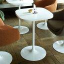 コーヒーテーブル 北欧 カフェテーブル 60 1本脚 ホワイト カフェ テーブル シンプル 白 インテリア 一人 センターテ…
