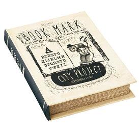 アクセサリーボックス アクセサリー 収納 宝石箱 ジュエリーボックス ジュエリーケース アクセサリーケース アンティーク おしゃれ 指輪 ピアス ジュエリー 小物 小物入れ アクセサリー入れ 小物収納 箱 レトロ ブック型 洋書 ギフト プレゼント GD-9959 Book Mark City
