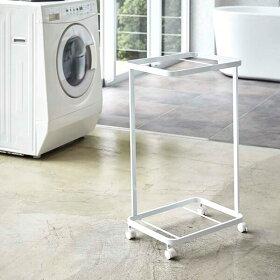 ランドリーワゴン2段収納洗濯キャスター付き洗濯カゴおしゃれスリムスタンド洗濯物入れ洗面所北欧モダンシンプルtowerホワイトブラック