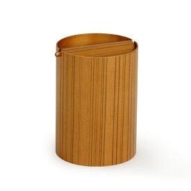 サイトーウッド ゴミ箱 ふた付き 木製 木目 ごみ箱 ダストボックス 木 ふた おしゃれ saito wood かわいい ゴミ箱 ふた付き 北欧 くずかご プライウッド 952TA 回転蓋 (L) チーク レトロ 和風 蓋付き フタ付き 筒型 リビング インテリア サニタリー カフェ