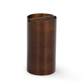 ゴミ箱 ふた付き 木製 ごみ箱 ふた ダストbox 木 おしゃれ かわいい ゴミ箱 ふた付き 木目 北欧 キッチン プライウッド サイトーウッド saito wood ダストボックス DH970A 回転蓋 ダークブラウン リビング 蓋付き 筒型 ダイニング サニタリー 寝室