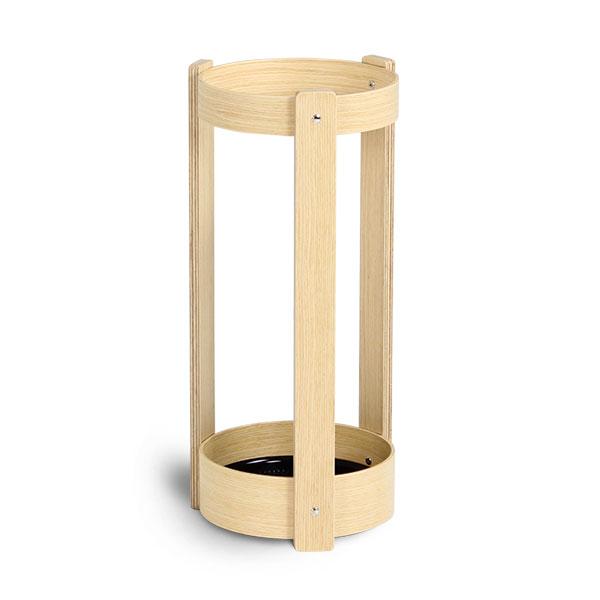 傘立て おしゃれ 丸い 木製 スリム 北欧 木目 傘たて 傘立 プライウッド アンブレラスタンド かさたて 傘入れ カサ立て 成型合板 合板 モダン コンパクト かさ立て おしゃれ 雑貨 曲げ木 日本製 シンプル スマート US-02H UMBRELLA STAND 白木 サイトーウッド saito wood
