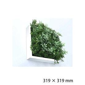 フェイクグリーン 人工観葉植物 壁掛け インテリアグリーン 人工芝 緑 芝生 インテリア 壁面緑化 ウォールフレーム アートフレーム アートパネル 北欧 アートグリーン 人工植物 壁面 壁 パネル フェイク 観葉植物 ISH51651 Shibafu 3 ハーブミックス 300WH ホワイト 白