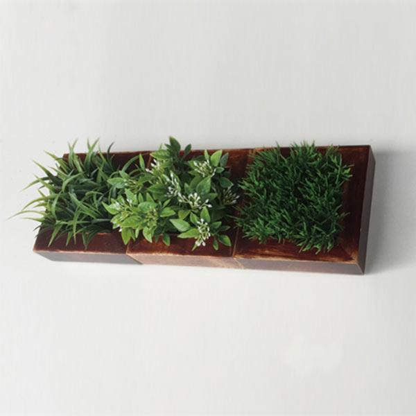 観葉植物 壁掛け アート 造花 人工観葉植物 フェイクグリーン ウォールインテリア ウォールディスプレイ ウォールアート おしゃれ ウォールインテリア ウォールディスプレイ ウォールアート インテリア ミニ アートパネル 小型 グリーン ZGD-51807 Deco Green S/BR