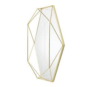 鏡ミラー壁掛け鏡ウォールミラー真鍮プリズマミラークリアumbraアンブラ