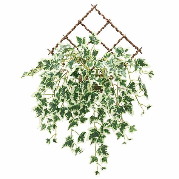 人工観葉植物 光触媒 壁掛け フェイクグリーン インテリア アートグリーン イミテーショングリーン イミテーション 植物 人工植物 高さ48cm 壁掛斑入りアイビー 消臭 抗菌 防汚 観葉植物