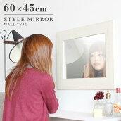 鏡ミラー壁掛けウォールミラー木製ホワイト白おしゃれarneSTYLEミラーWM3045WH
