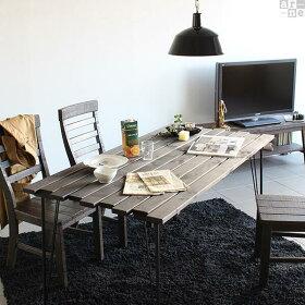 ダイニングテーブルインダストリアルレトロヴィンテージテーブル木製アイアンおしゃれSKPプロ1500×760DT