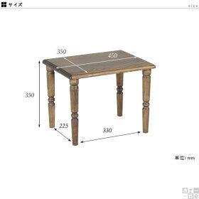 テーブル机子供子供部屋キッズキッズ家具木製アンティークレトロおしゃれnewarcミニテーブルコンパクトミニ北欧カフェ風インテリアプレゼントカントリー子供用入園祝い入学祝い高級感ブラウン省スペースシンプルかわいい幅45奥行き35高さ35